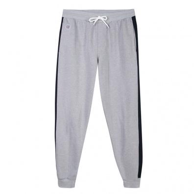 Le Yves - Jogging gris avec bande marine