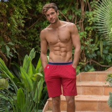 Le Zouzou Rot gemustert - Rote Shorts mit Muster