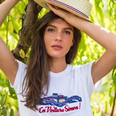 La jeanne f BLANC VOITURE SIMON - Tshirt BLANC VOITURE SIMON