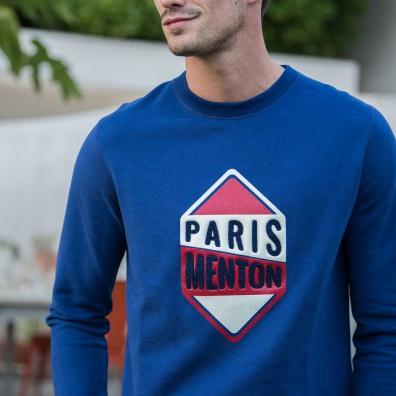 Le barthe PARIS MENTON INDIGO - Sweat PARIS MENTON INDIGO