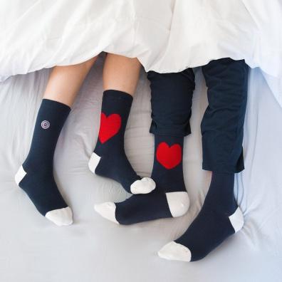 Duo Chaussettes mixtes Bonjour mon Amour - Chaussettes mi-hautes mixtes Bonjour mon amour