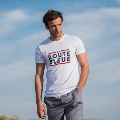 Le jean f LA ROUTE BLEUE BLANC - Tshirt LA ROUTE BLEUE BLANC