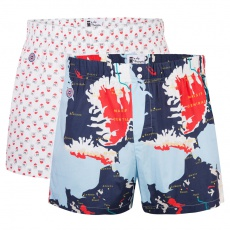 Le Jaques Duo - 2er Pack Boxershorts mit Muster