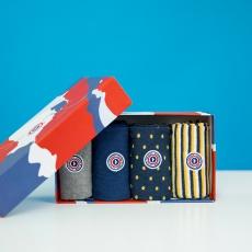 Geschenkbox Les Lucas - Quatro Box Socken