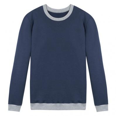 Le Coude à Coude Blau - Zweifarbiges Sweatshirt