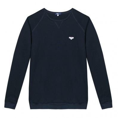 Le Raglan Bleu Marine - Marineblaues Sweatshirt mit Applikationen