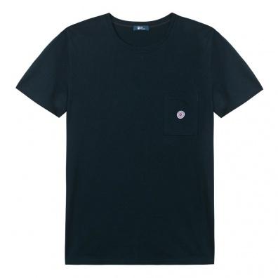 Le Robert - Blaues T-Shirt mit Tasche