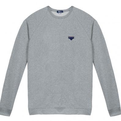 Le Raglan Gris - Graues Sweatshirt mit Applikationen