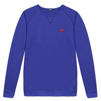 Le Raglan Bleu Klein - Blaues Sweatshirt Klein mit Applikationen