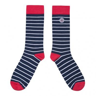 La Deauville - Blau-Weiß-Rot gestreifte Socken