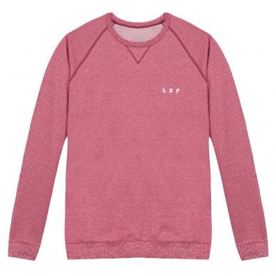 Le Flocon - Rot meliertes Sweatshirt