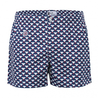 Le montagnard - Blue multi triangle boxershort