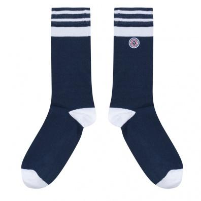 Tignes - Blau-Weiße Sportsocken