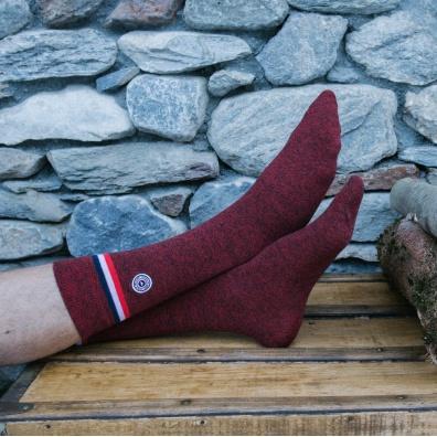 Avoriaz - Rot melierte Socken