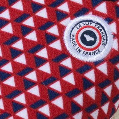 Les Tire Fesse - Rot-Weiß-Blaue Pantoffeln mit Dreiecksmotiv