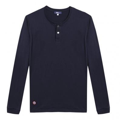 Le Chamois - Blau-Weiß gestreiftes Langarm-Shirt