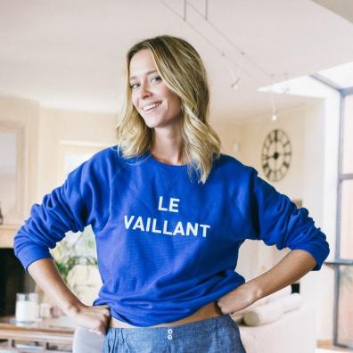 Le Vaillant - Himmelblaues Sweatshirt