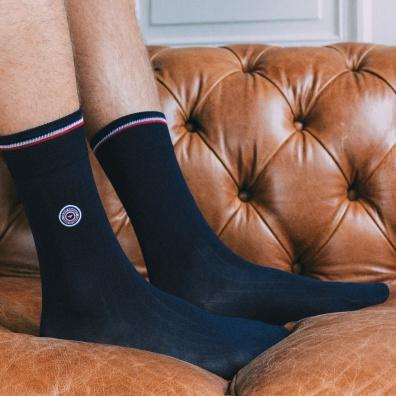 La fil d'écosse - chaussettes bleues