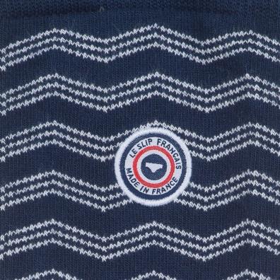 La Plagne - Weiß-Blaue Socken im Wellenmotiv