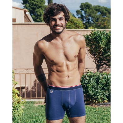 Le Nageur Long - Blaue Trunkshorts (lang)