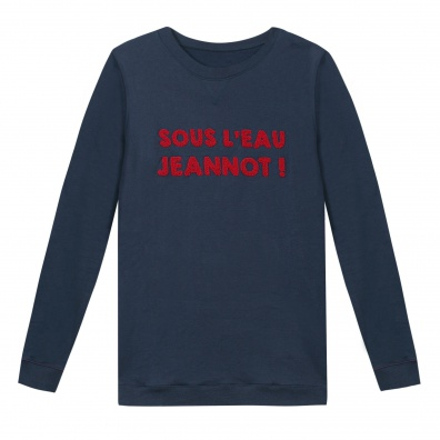 Le Jeannot - Blau-Rotes LSF x Aigle Sweatshirt