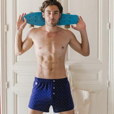 Le Fanion - Blaue Boxershorts