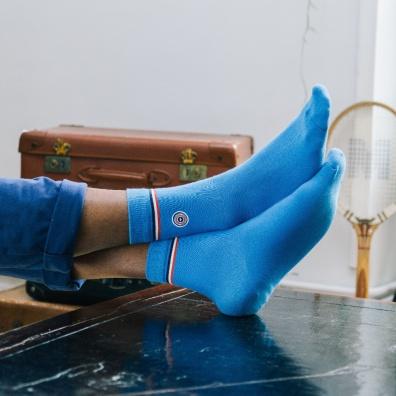 Les Minérales - Hellblaue Socken