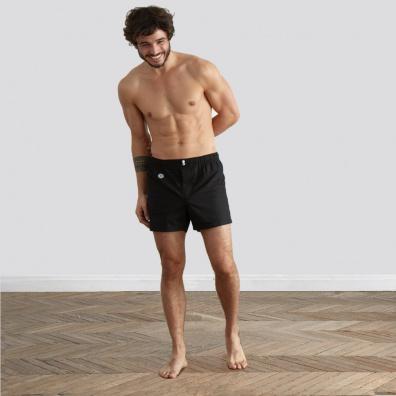 Le Léon - Schwarze Boxer Shorts