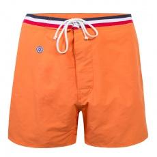 Moussaillon orange - Lange orangefarbene Badeshorts
