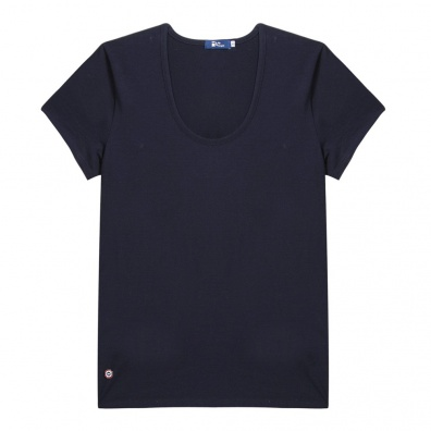La Brigitte - Blaues T-Shirt mit O-Ausschnitt