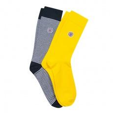 Les Lucas duo - 2er Pack Blau-Gelbe Socken