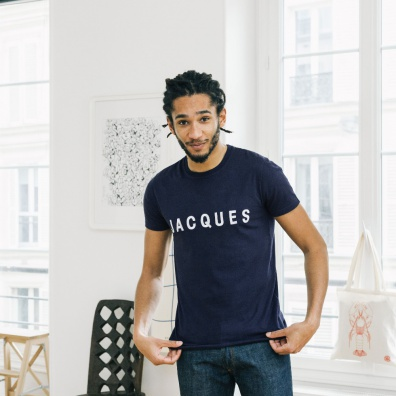 Le Jean F Jacques - Navy t-shirt