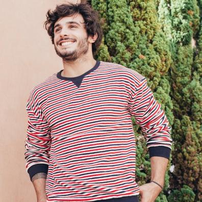 Le Loïc - Blau-Weiß-Rotes Sweatshirt
