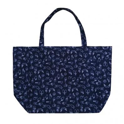 Le Beachy - Blue beach tote bag