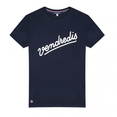 Le Jean F Vendredis - Blaues T-Shirt