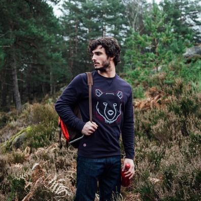 Le Robin Bär - Marineblaues Sweatshirt mit Bär Print