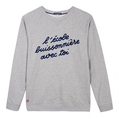 Le Hubert - Sweatshirt gris école buissonière